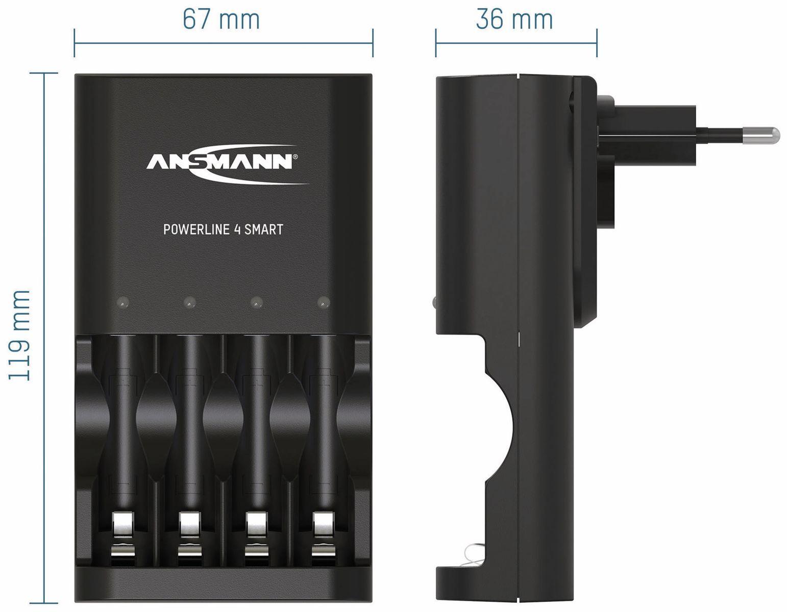 Ladegerät ANSMANN Powerline 4 Smart online kaufen   Pollin.at