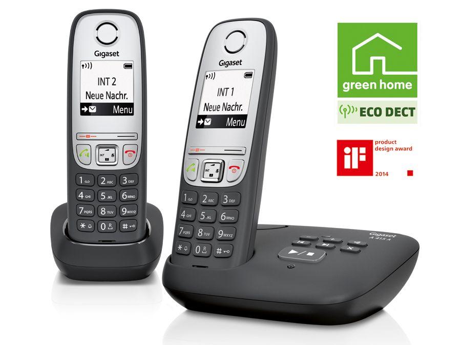 schnurloses dect telefon gigaset a415 a duo mit ab 2. Black Bedroom Furniture Sets. Home Design Ideas