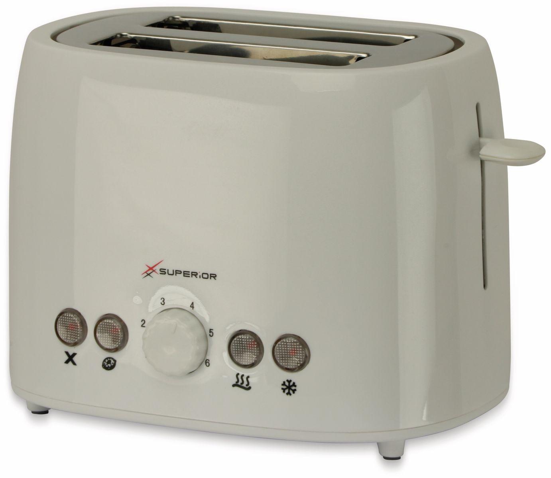 800 W TR-Tds-05 B-Ware Doppelschlitz Toaster weiß