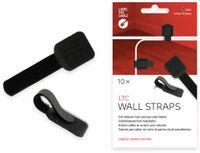 Vorschau: Klett-Kabelbinder LTC WALL STRAPS, schwarz, 10 Stück