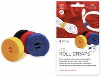 Vorschau: Klett-Rolle LABEL THE CABLE Roll Strap, 4x 100 cm, 16 mm, bunt