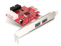 Vorschau: USB 3.0 PCIe-Karte mit internen Ports, 3-Port