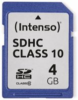 Vorschau: SDHC Card INTENSO 3411450, 4 GB, Class 10