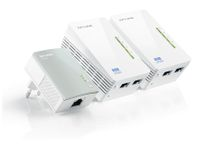 Vorschau: Powerline-Kit mit WLAN-Extender TP-LINK TL-WPA4220TKIT, Triple-Kit