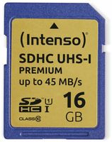 Vorschau: SDHC Card INTENSO 3421470, 16 GB, Class 10, UHS-I