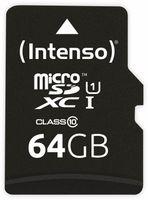 Vorschau: MicroSDXC Card INTENSO 3423490, UHS-I, 64 GB