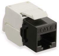 Vorschau: Einbau-Modul Red4Power KM-C6U-S, CAT.6, schwarz