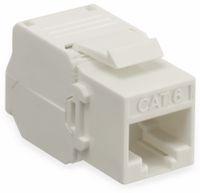Vorschau: Einbau-Modul Red4Power KM-C6U-W, CAT.6, weiß