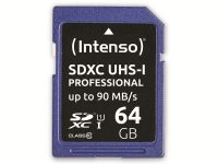 Vorschau: SDXC Card INTENSO 3431490, 64 GB, Class 10, UHS-I