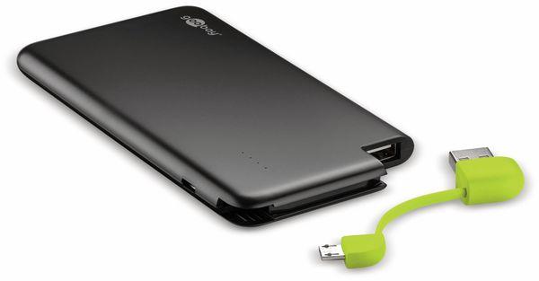 USB Slim Powerbank GOOBAY 64558, 4.000 mAh, schwarz