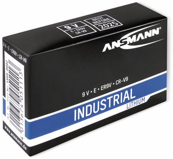 Lithium-Batterie, ANSMANN, INDUSTRIAL, 9V-Block, 5 Stück - Produktbild 2