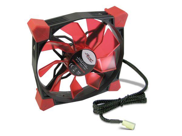 PC-Lüfter COBANITROX N-120-R, LED-Beleuchtung, 120x120x25 mm, 12 V-