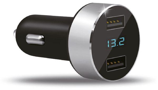 Dual KFZ USB-Lader mit Display QUATPOWER KUL2-5/3.4A, 5 V-/3,4 A - Produktbild 1