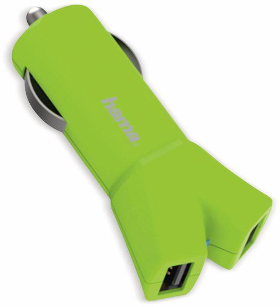 Dual USB-Ladeadapter HAMA, 2-fach, 3,4 A, grün