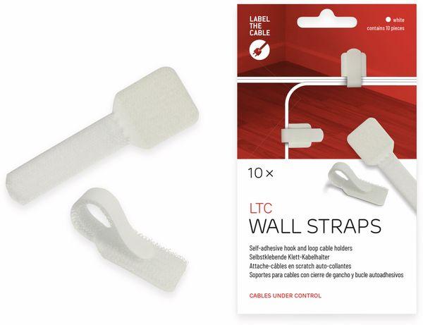 Klett-Kabelbinder LTC WALL STRAPS, weiß, 10 Stück