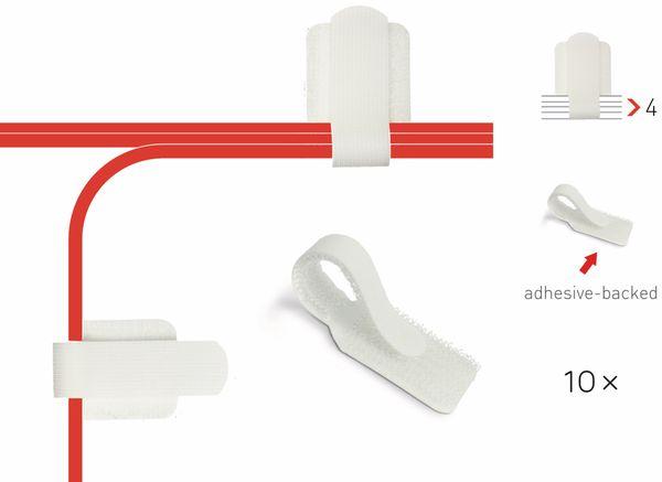 Klett-Kabelbinder LTC WALL STRAPS, weiß, 10 Stück - Produktbild 2
