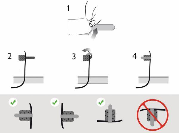 Klett-Kabelbinder LTC WALL STRAPS, weiß, 10 Stück - Produktbild 4