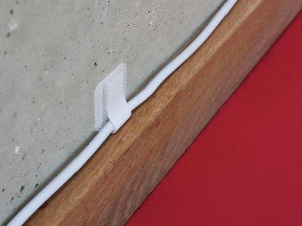 Klett-Kabelbinder LTC WALL STRAPS, weiß, 10 Stück - Produktbild 5