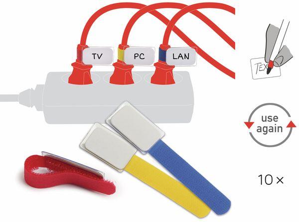 Klett-Kabelbinder LTC MINI, verschiedene Farben, 10 Stück - Produktbild 2