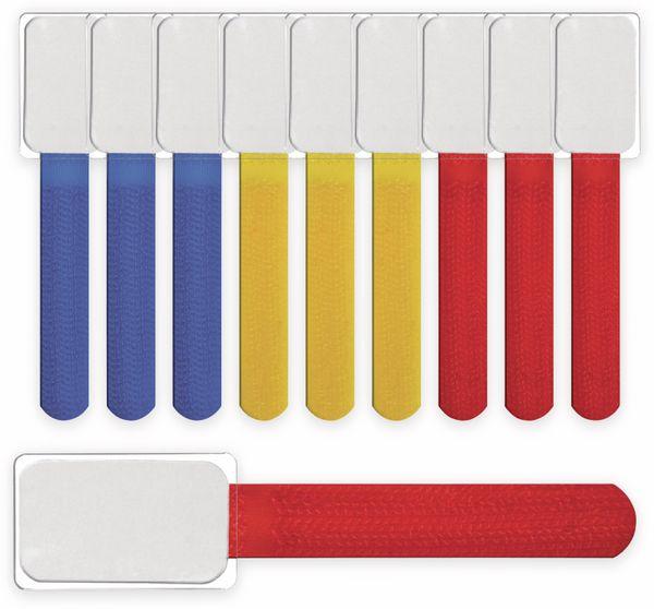 Klett-Kabelbinder LTC MINI, verschiedene Farben, 10 Stück - Produktbild 3