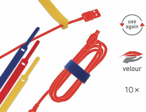 Klett-Kabelbinder LTC BASIC, verschiedene Farben, 10 Stück - Produktbild 2