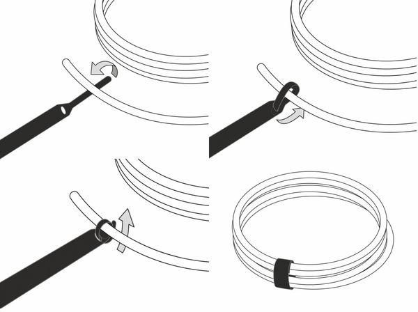 Klett-Kabelbinder LTC BASIC, verschiedene Farben, 10 Stück - Produktbild 4