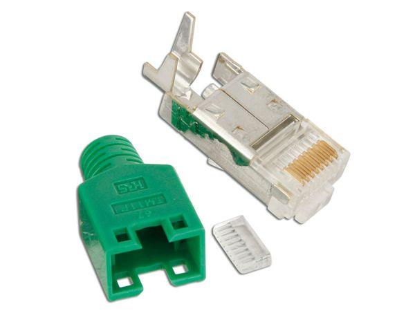 CAT.6 Modularstecker HIROSE, grün