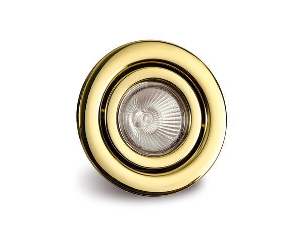 GU10-Deckeneinbauleuchte DAYLITE DEL-GU1050W/GS, gold, schwenkbar - Produktbild 1