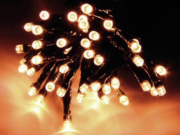 LED-Lichterkette, 180 LEDs, warmweiß, 230V~, IP44, Innen/Außen