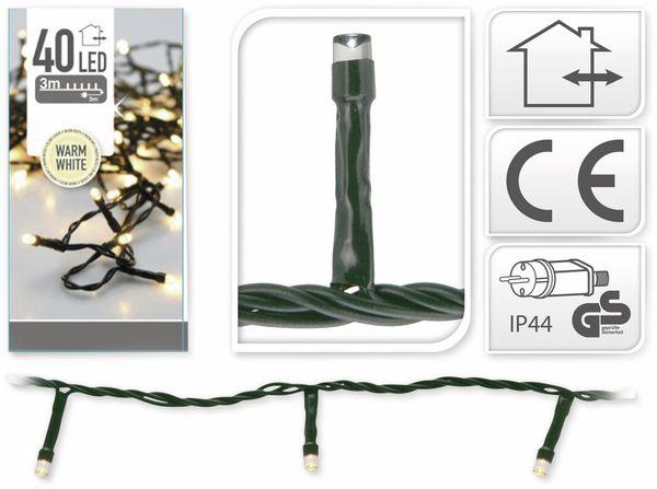 LED-Lichterkette, 40 LEDs, warmweiß, 230V~, IP44, Innen/Außen - Produktbild 4