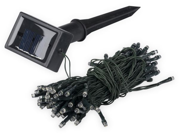 Solar-Lichterkette, 50 LEDs, kaltweiß - Produktbild 2