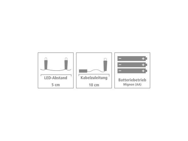 LED-Party Lichterkette, Silberdraht, 100 LEDs, bunt, Batteriebetrieb - Produktbild 4