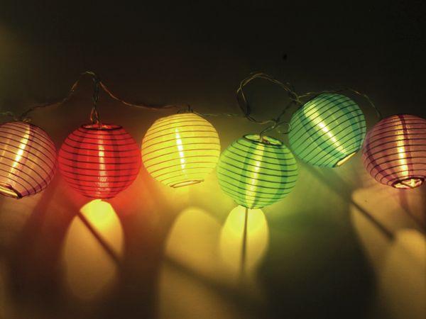 LED-Sommerlichterkette, 1,2W, Lampions, bunt - Produktbild 4