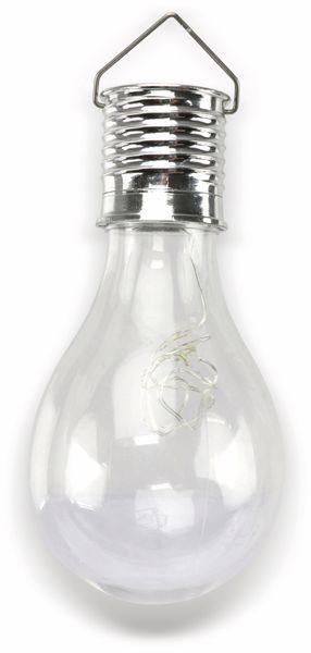 LED-Solar Leuchte in Glühlampenform, verschiedene Farben - Produktbild 2