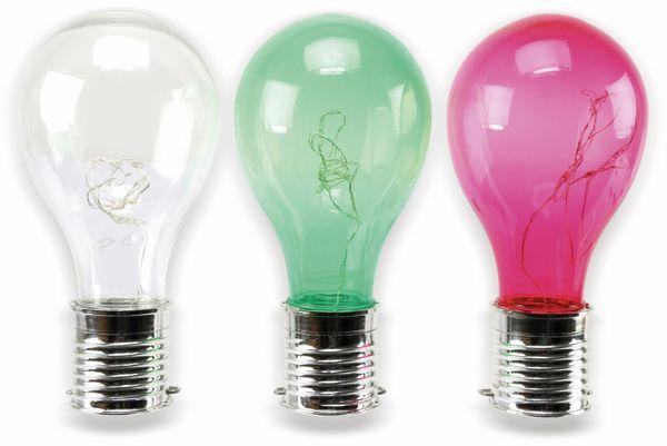 LED-Solar Leuchte in Glühlampenform, verschiedene Farben - Produktbild 5