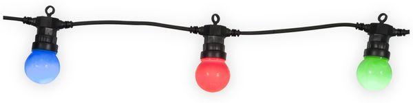 LED-Sommerlichterkette, 20 Kugeln, bunt, 9,75m, Innen/außen, 230V~