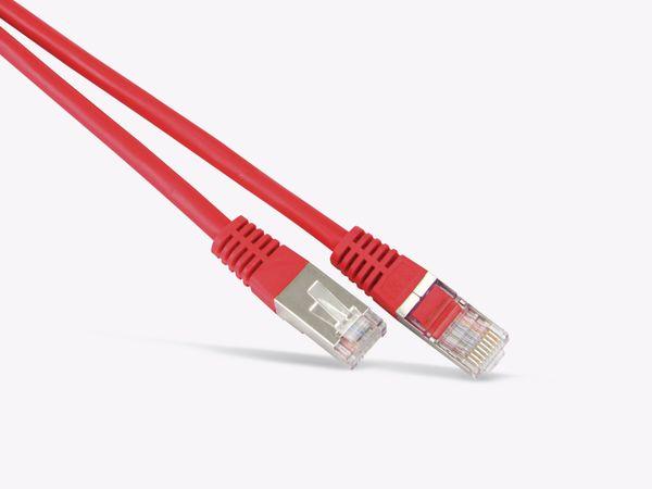 Netzwerkpatchkabel CAT.6 , RJ45, 1:1, 0,5 m, rot