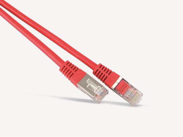 Netzwerkpatchkabel CAT.6 , RJ45, 1:1, 1 m, rot