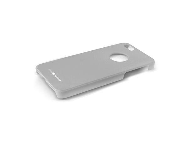 Back Cover für iPhone 5, Hartschale, grau, RED4POWER