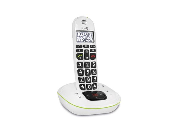 Schnurloses DECT-Telefon DORO PhoneEasy 115, weiß - Produktbild 2