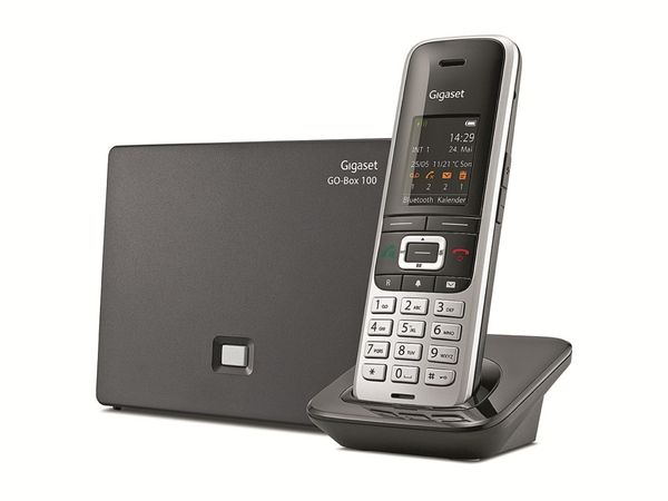Schnurloses DECT-Telefon GIGASET S850 A GO, platin-schwarz