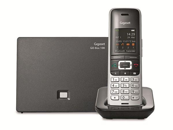 Schnurloses DECT-Telefon GIGASET S850 A GO, platin-schwarz - Produktbild 2