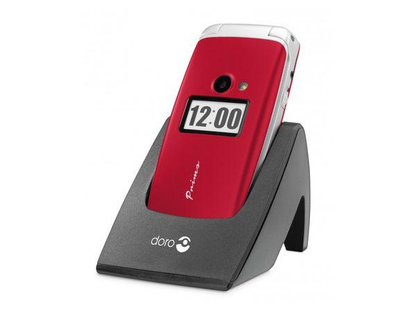 Mobiltelefon DORO Primo 413, rot