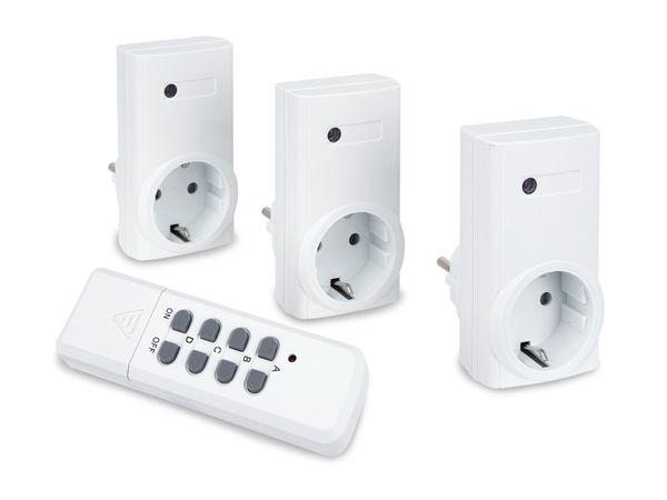 Funksteckdosen-Set mit 3 Steckdosen - Produktbild 2