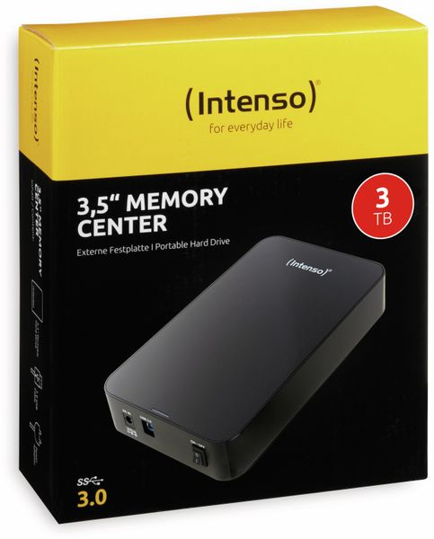 USB 3.0-HDD INTENSO Memory Center, 3 TB, schwarz - Produktbild 2