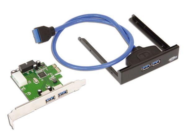 USB 3.0 PCIe-Karte mit Frontpanel - Produktbild 2