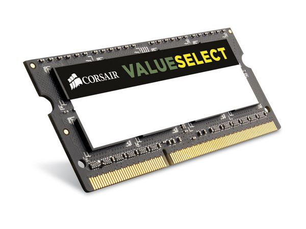 Speichermodul SO-DIMM, DDR3, CORSAIR CMSO8GX3M1A1600C11 Value Select