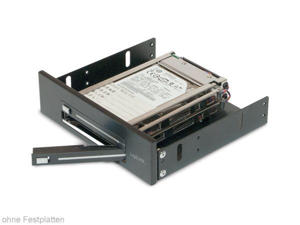 """SATA-Wechselrahmen, 2x 6,35 cm (2,5"""") für 5,25""""-Schacht - Produktbild 2"""