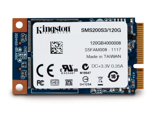 SSD KINGSTON SSDNow mS200, mSATA III, 480 GB