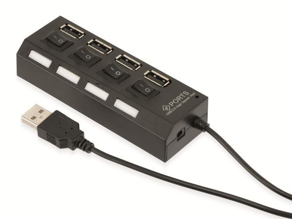 USB 2.0 Hub RED4POWER R4-U002B - Produktbild 1